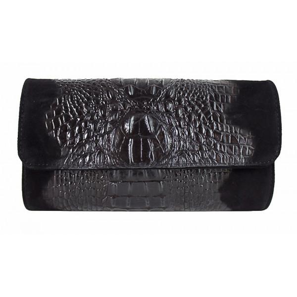 1b3837f7ea Kožená kabelka 1251 Made in Italy čierna - MONDO ITALIA s.r.o.