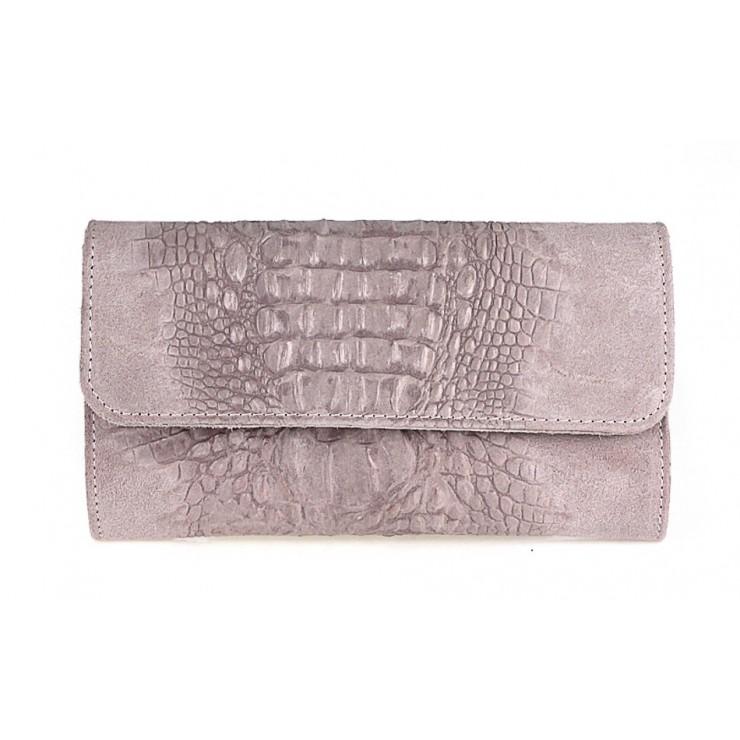 Kožená kabelka 1251 Made in Italy ružová