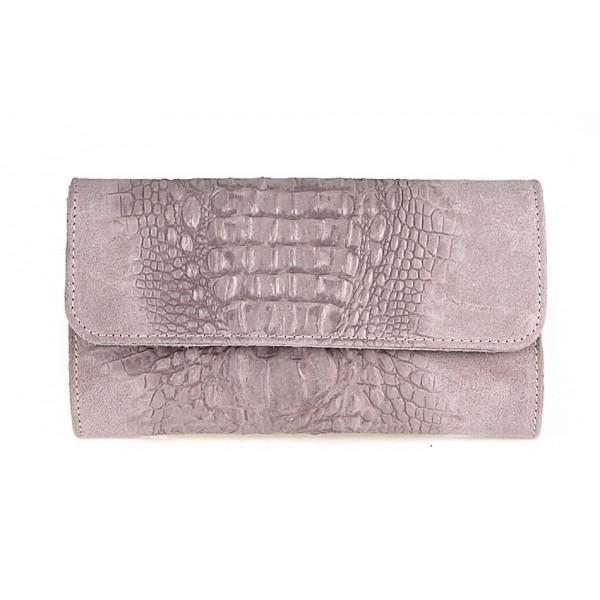 1a1d7d98e8 Kožená kabelka 1251 Made in Italy ružová - MONDO ITALIA s.r.o.