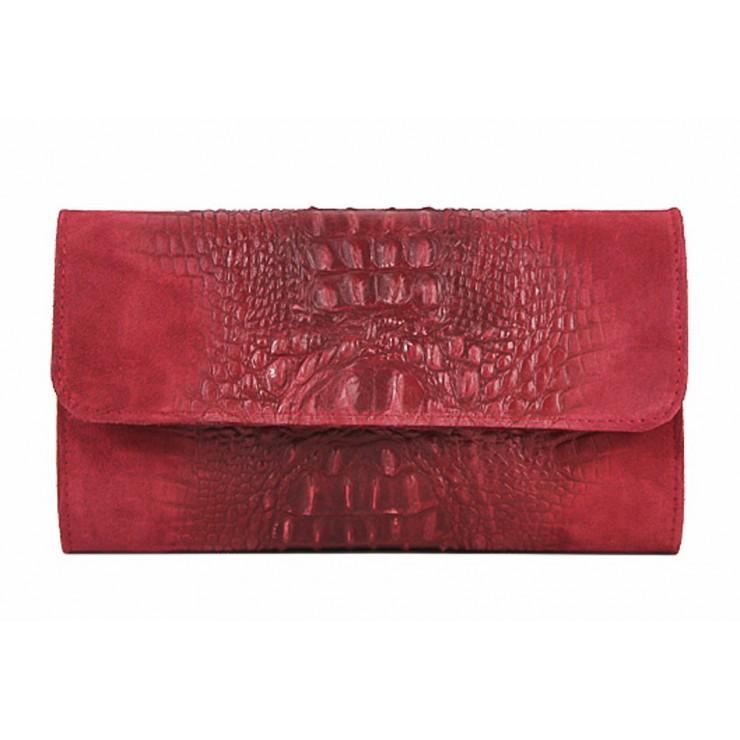 Kožená kabelka 1251 Made in Italy červená