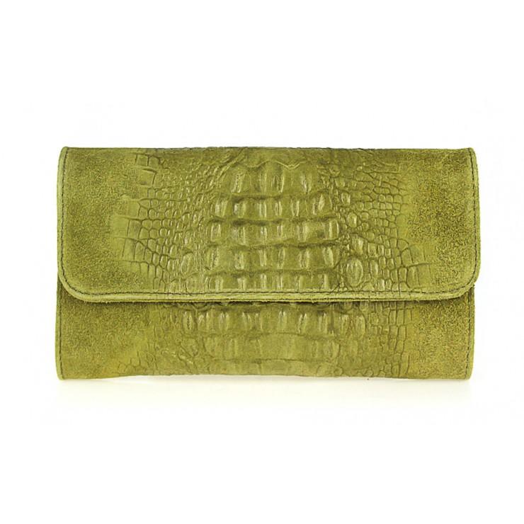 Kožená kabelka 1251 Made in Italy olivovo zelená