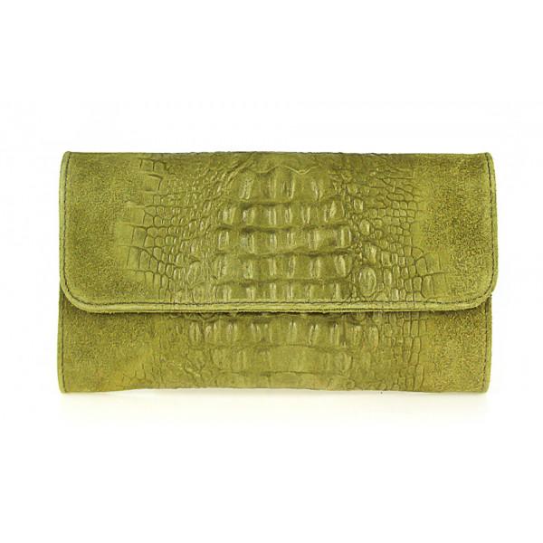 5be7828940 Kožená kabelka 1251 Made in Italy olivovo zelená - MONDO ITALIA s.r.o.