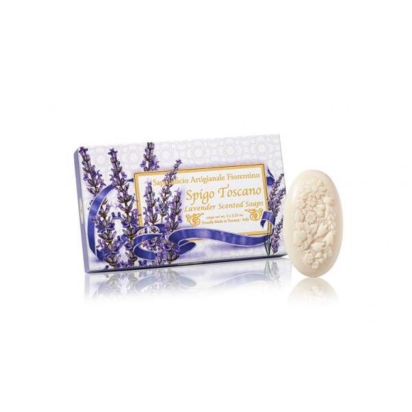 Prírodné mydlo Levanduľa 3 x 125 g