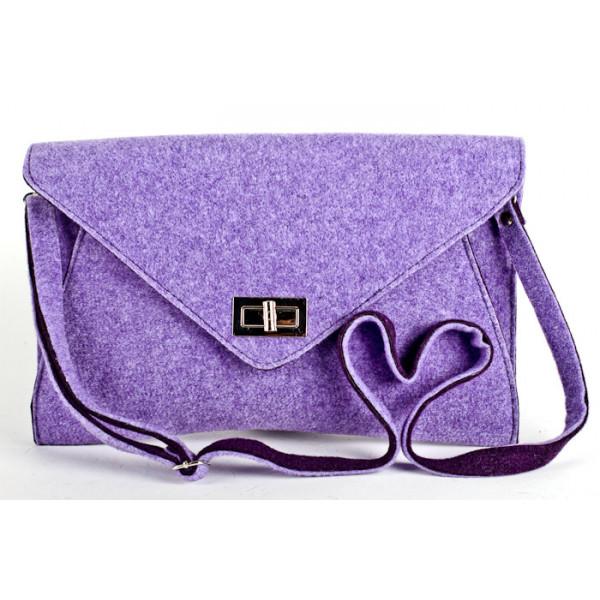 Filcová kabelka 806 fialová
