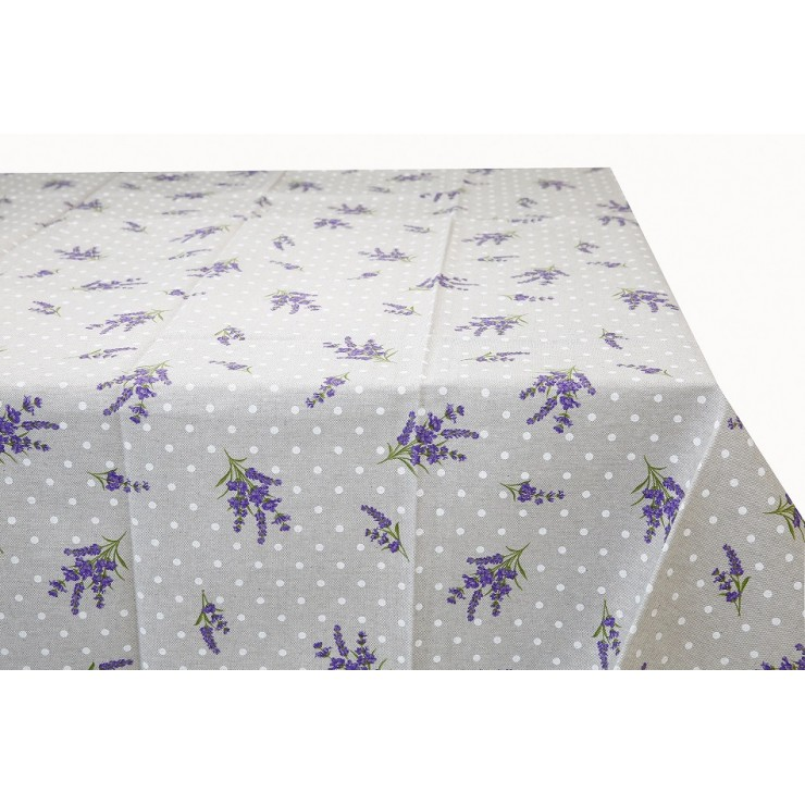 Table cloth Lavender with dots Made in Italy