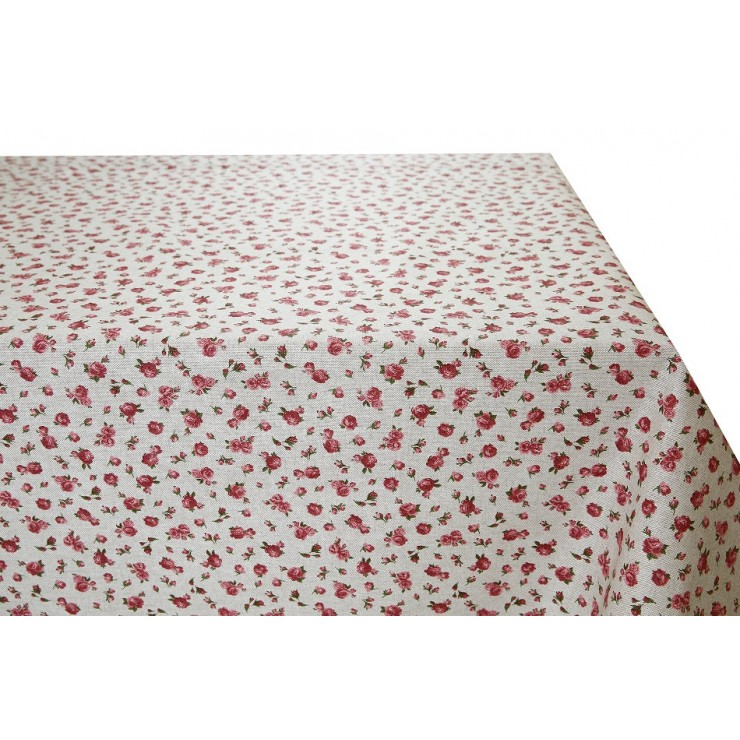 Tablecloth Pink Flowers Made in Italy