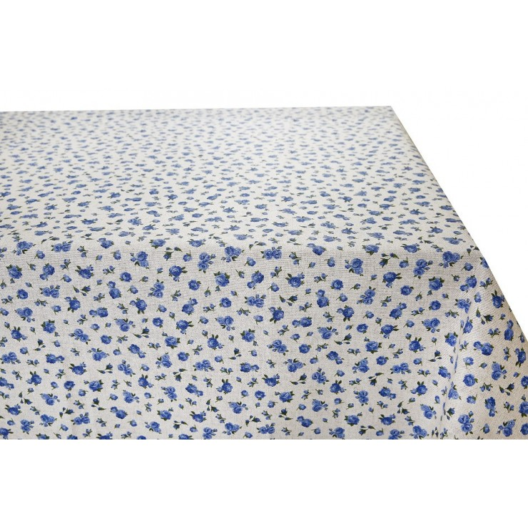 Tablecloth Blue Flowers Made in Italy