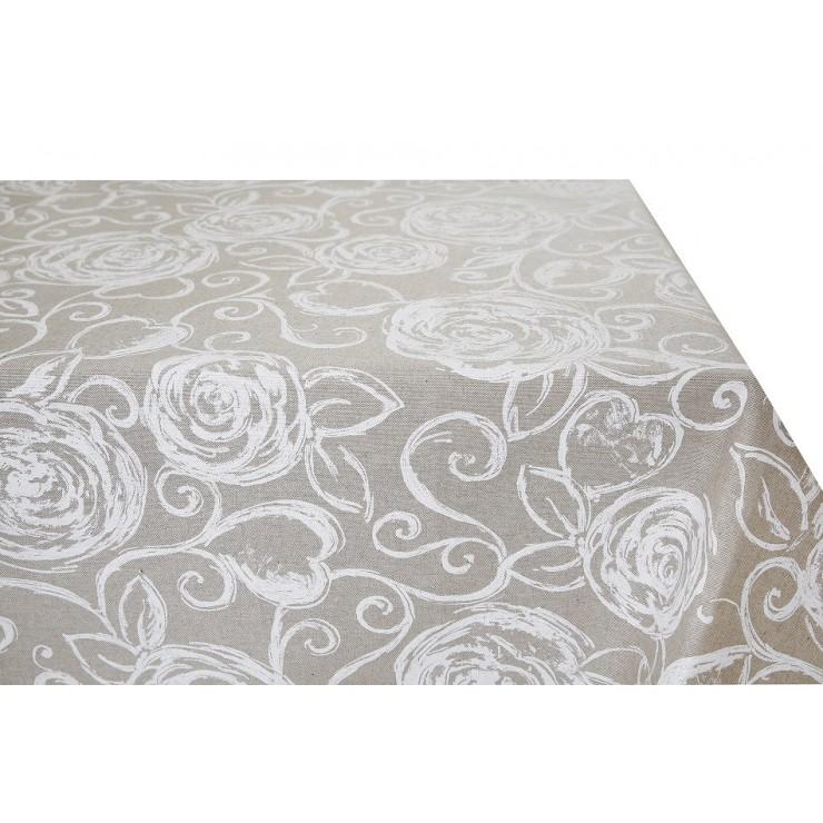 Obrus biele ruže  Made in Italy