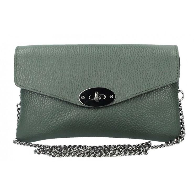 EchtLeder Handtasche 515 dunkelgrün