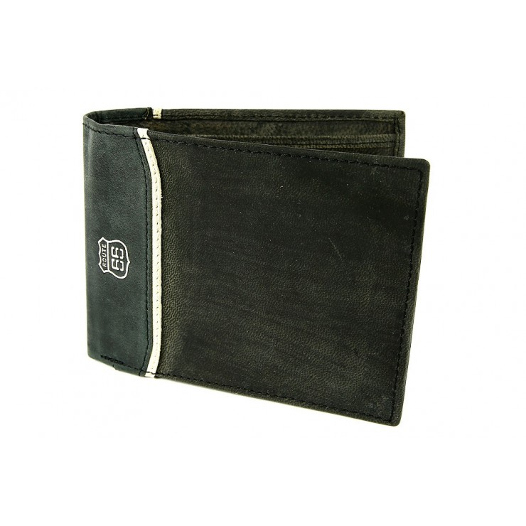 Pánska kožená peňaženka 734 šedo-čierna Route 66