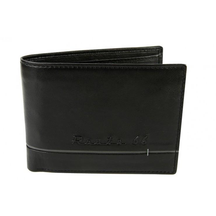 Pánska kožená peňaženka 597 čierna Route66