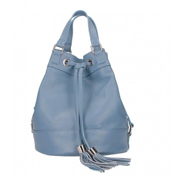 Nebesky modrá kožená kabelka 338