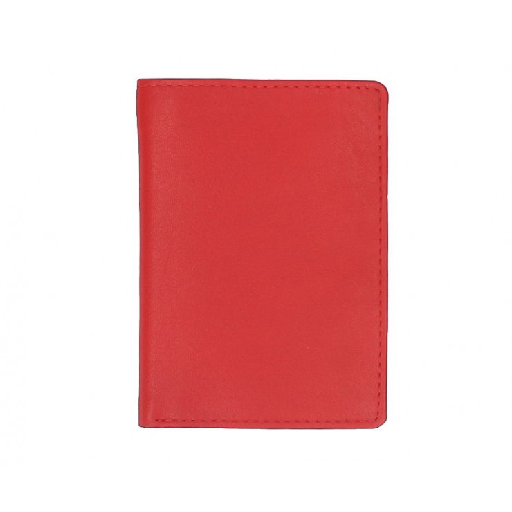Leather business card holder 790 red