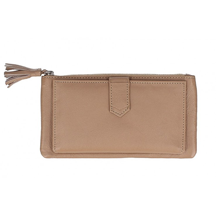 Leather wallet 384 taupe