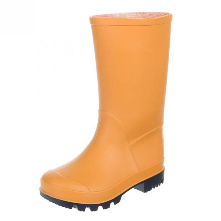 Orange girl´s rainboots