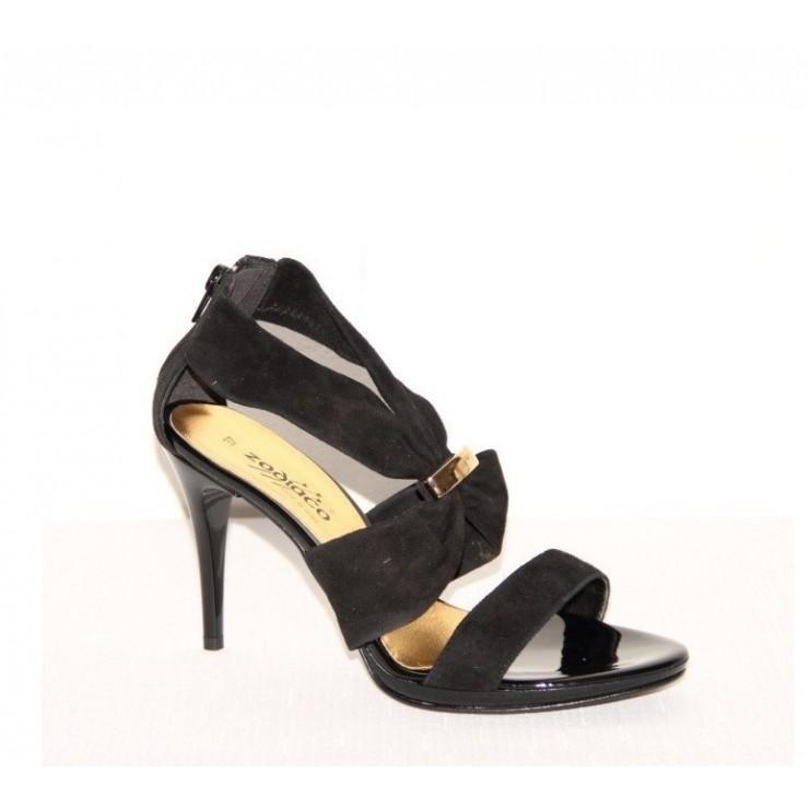 Čierne spololočenské sandále
