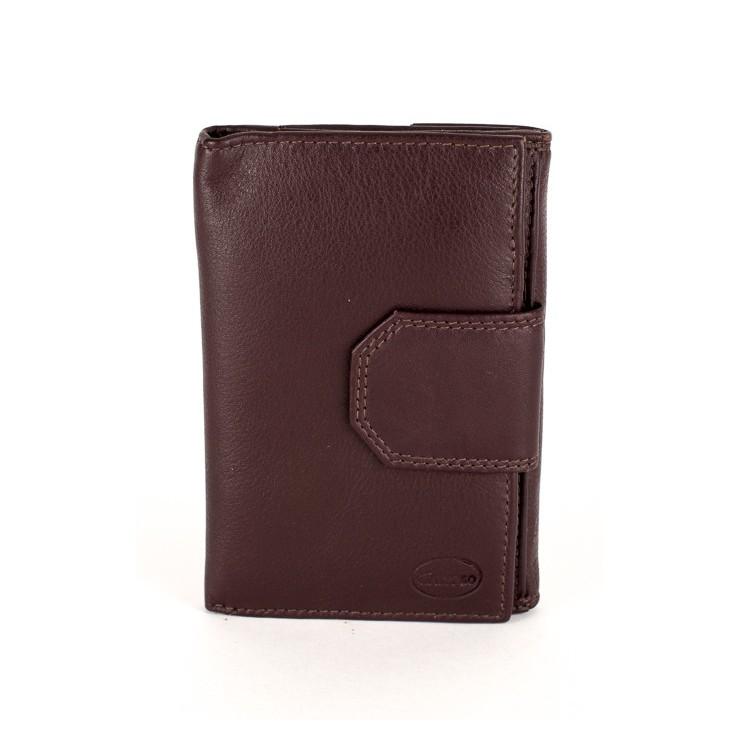 Dámska kožená peňaženka 1127 tmavohnedá Calypso