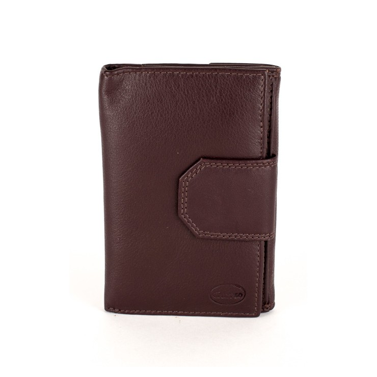 Woman genuine leather wallet 1127 dark brown Calypso