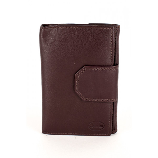 Dámska kožená peňaženka 1127 tmavohnedá Calypso Hnedá