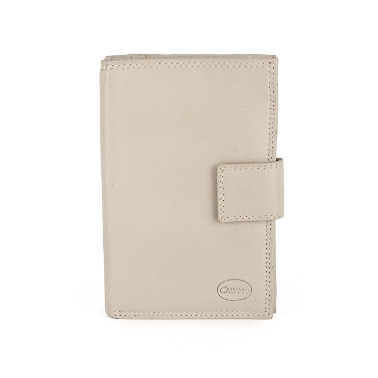 Woman genuine leather wallet 1126 beige Calypso
