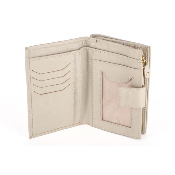Dámska kožená peňaženka 1126 béžová Calypso Béžová