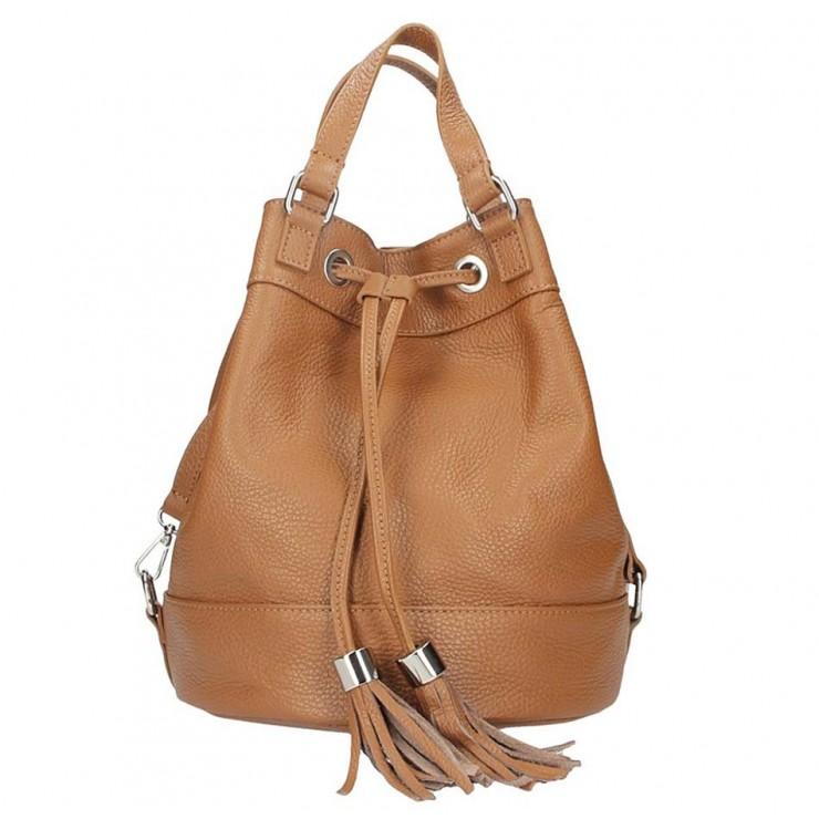 Leather Shoulder Bag 338 cognac
