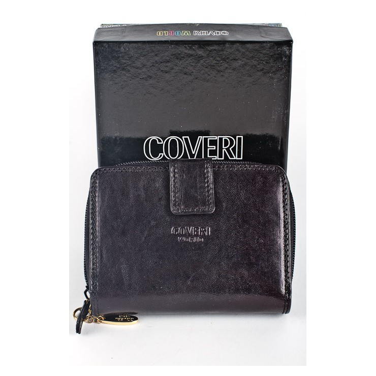 Woman genuine leather wallet 814 nero Coveri World