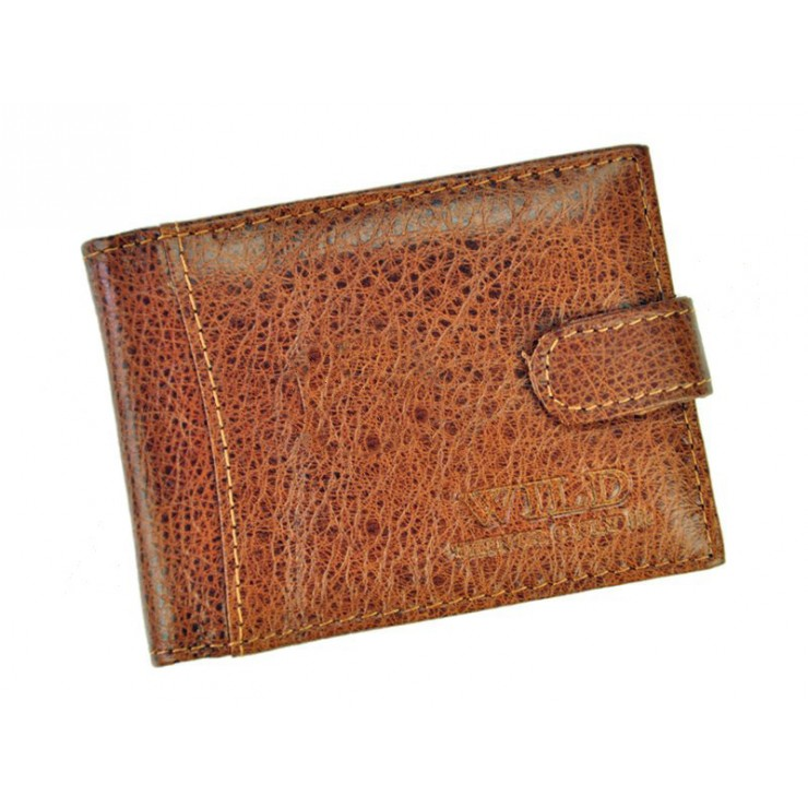Leather business card holder 490 brown