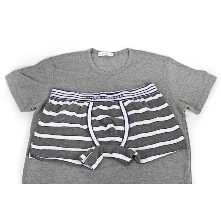 Herren Set Boxer + T-Shirt 833 Rossoporpora