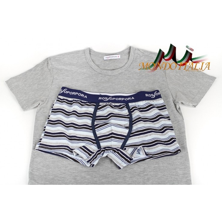 Men's set boxers + t-shirt 833 Rossoporpora