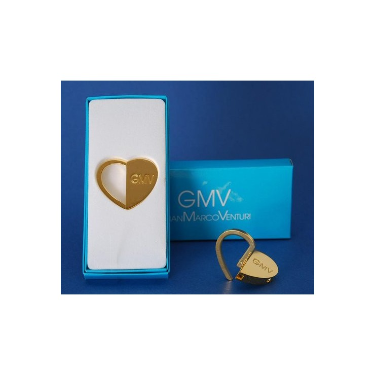 Keyring 178 Gold Heart GianMarco Venturi