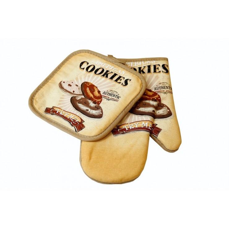 Chňapka + podložka pod hrnce MIG402 Cookies