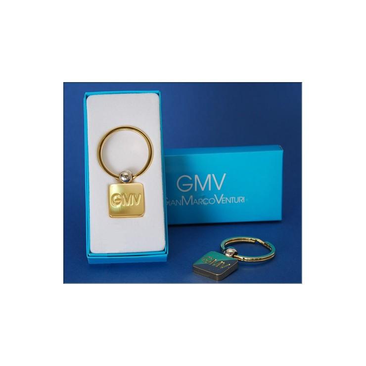 Keyring 180 gold square GianMarco Venturi