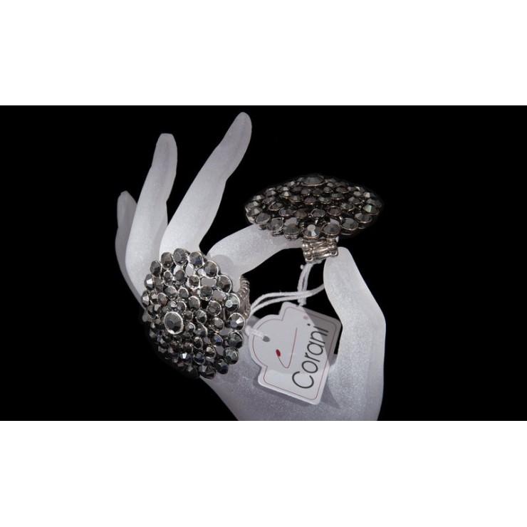 Dámský prsten 409 tmavě šedý Corani