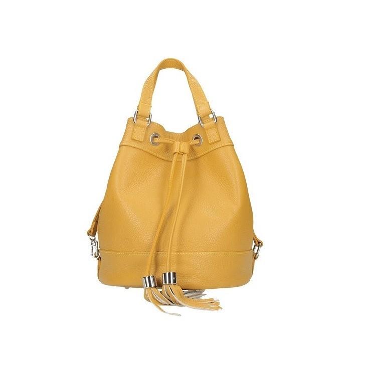 Leather Shoulder Bag 338 mustard