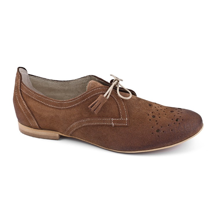 Women´s leahter shoes 937 brown Loretta Vitale