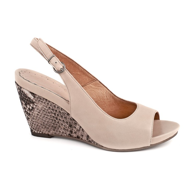 Damen Sandalen 893 Beige Freemood