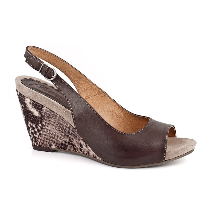 Sandali da donna 894 Brown Freemood