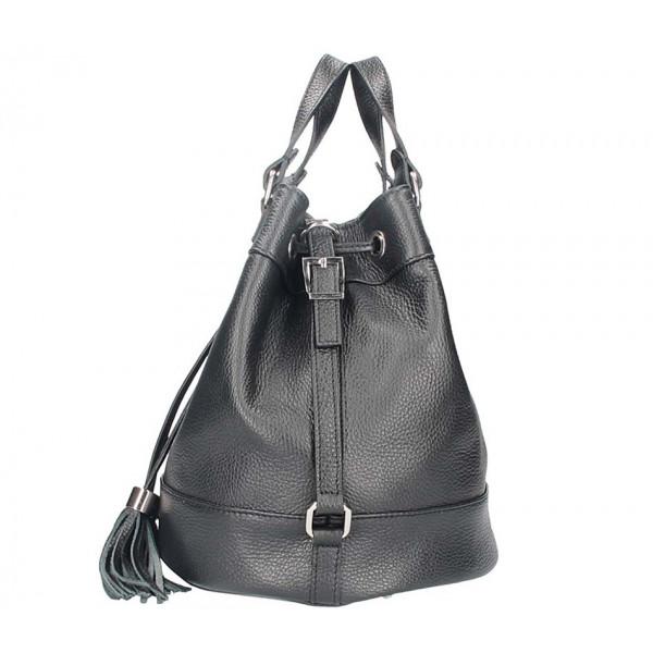 Okrová kožená kabelka 338 Made in Italy Okrová