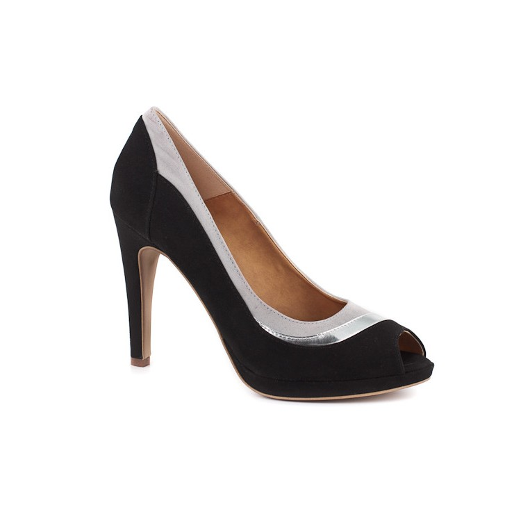 Woman high heels 932 black Elisa Morelli