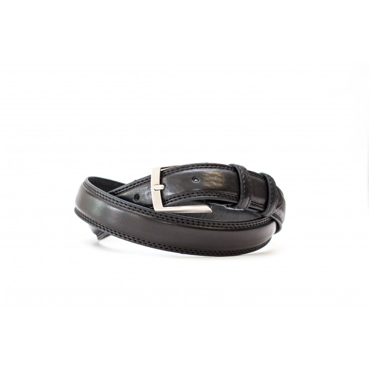 Men belt 1019 black Made in Italy