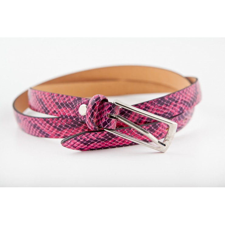 Women belt 82 fuxia Made in Italy