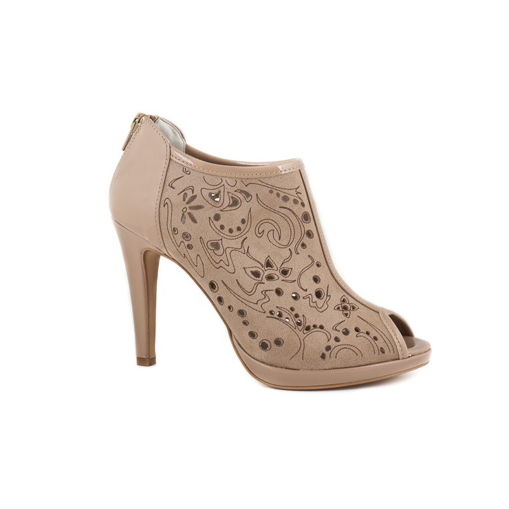 Woman high heels 636 taupe Elisa Morelli