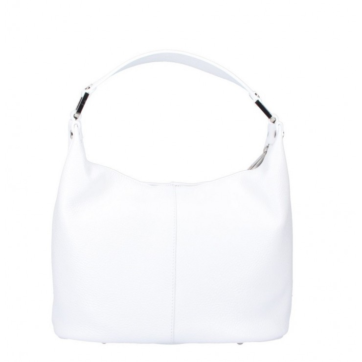 Leather Shoulder Bag 922 white Made in Italy