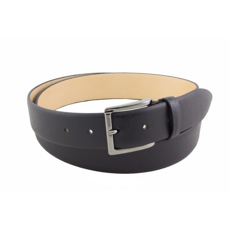 Men leather belt 80 black Made in Italy