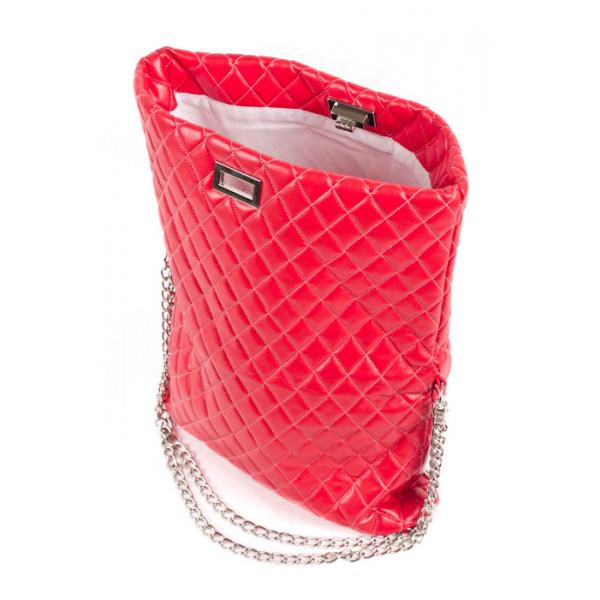 Dámska kabelka 717 červená Made in Italy
