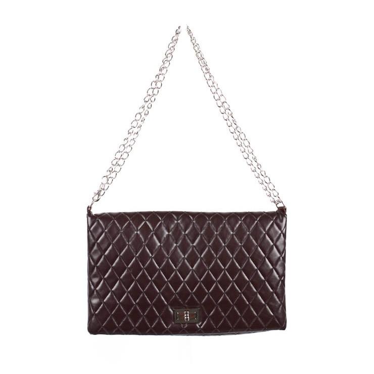 Woman Handbag 717 dark brown Made in Italy