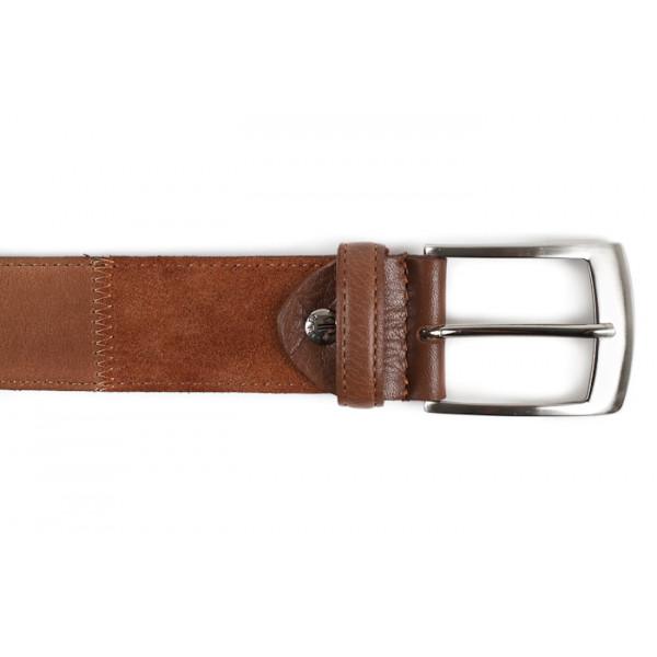 Pánsky kožený opasok 872 hnedý Made in Italy Hnedá 105/120 cm