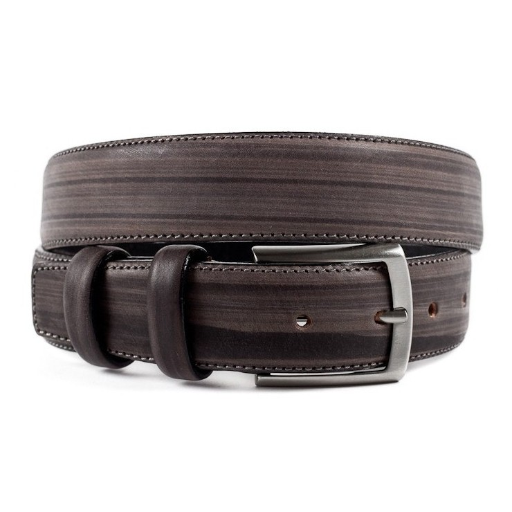 Men leather belt 995 taupe Renato Balestra