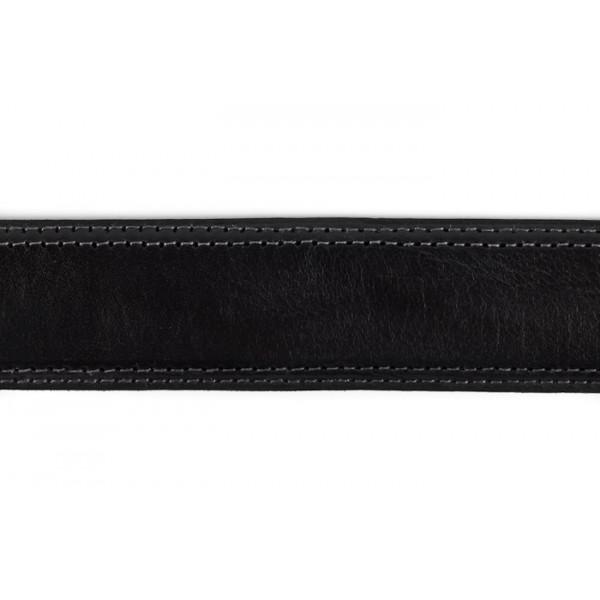 Pánsky kožený opasok 873 čierny Made in Italy Čierna 110/125 cm